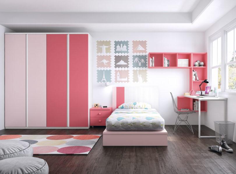 Colores tendencia para el 2019 en habitaciones infantiles - Habitaciones juveniles ninas ...